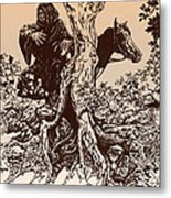 Dark Rider-tolkien Appreciation Metal Print