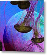Dark Side Of The Moon 5d24939 Painterly P88 Long Metal Print