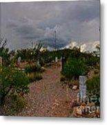 Dark Sky Over Tombstone Metal Print