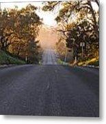 Dark To Light Road Metal Print