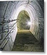 Dark Tunnel And Staircase Metal Print