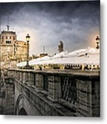 Dark Winter Evening At Castel Sant'angelo - Rome Metal Print