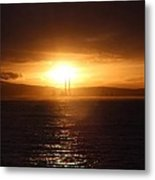 Darkness Follows Metal Print