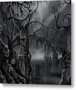 Darkness Has Crept in the Midnight Hour Metal Print