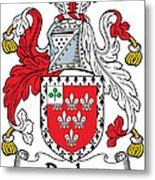 Darley Coat Of Arms Irish Metal Print