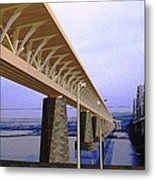 Darnitsky Bridge Metal Print
