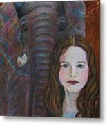 Darra  Little Angel Of                                    Feminine Wisdom And Understanding Metal Print