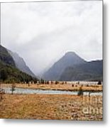Dart River Valley Rain Clouds Mt Aspiring Np Nz Metal Print