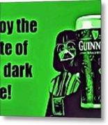 Darth Drinks Guinness Metal Print