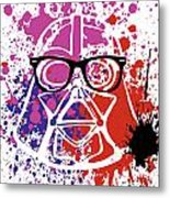 Darth Vader Corrective Lenses Metal Print