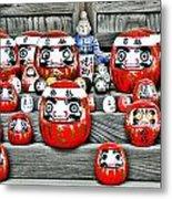 Daruma Dolls Metal Print