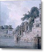 Dasasvamedha Ghat, Benares, Uttar Metal Print