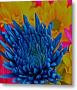 Dash Of Blue Metal Print