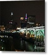 Date Night In Cleveland - From His Window Metal Print by LCS Art