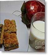 Date Squares - Snack - Dessert - Milk Metal Print