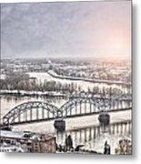 Daugava Railway Bridge Metal Print