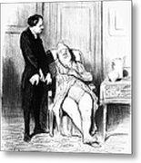 Daumier: Doctor Cartoon Metal Print