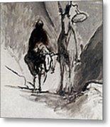 Daumier: Don Quixote Metal Print