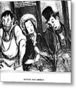 Daumier Omnibus, 1841 Metal Print