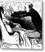 Daumier: The Hypnotist Metal Print