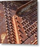 Davenport Railroad Bridge Beam V Metal Print