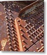 Davenport Railroad Bridge Beam V Metal Print