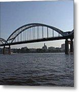 Davenport Skyline And Centennial Bridge Metal Print