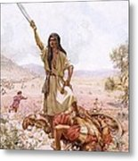 David And Goliath Metal Print by William Brassey Hole