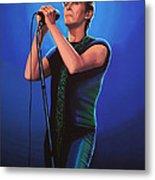 David Bowie 2 Painting Metal Print