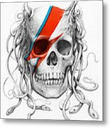 David Bowie Aladdin Sane Medusa Skull Metal Print