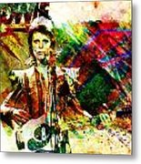 David Bowie Original Painting Print Metal Print