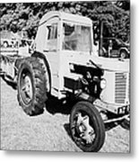 David Brown 25d Classic Tractor With Albion Plough During Vintage Tractor Rally At Glenarm Castle Open Day County Antrim Northern Ireland Metal Print
