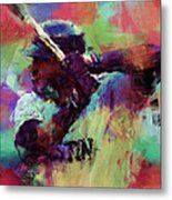 David Ortiz Abstract Metal Print