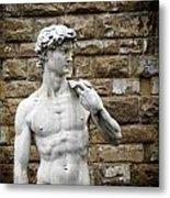 David Statue Metal Print