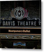David Theatre Neon - Montgomery Alabama Metal Print