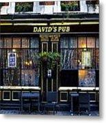 David's Pub Metal Print