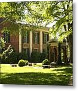 Davidson College Old Well And Philanthropic Hall Metal Print