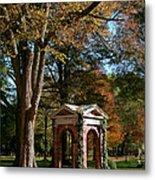 Davidson College Old Well In Autumn Metal Print
