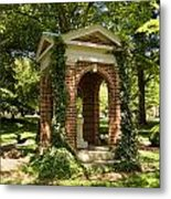 Davidson College Old Well Metal Print