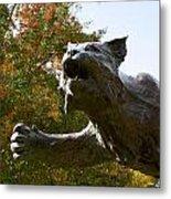 Davidson College Wildcat Statue Metal Print