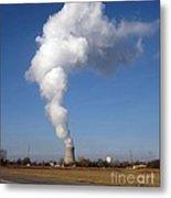 Davis Besse Nuclear Power Plant Metal Print