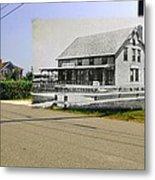 Davis House At Sakonnet Point In Little Compton Ri Metal Print
