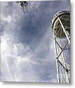 Davis Water Tower Metal Print by Juan Romagosa