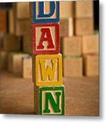 Dawn - Alphabet Blocks Metal Print