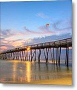Dawn At Avalon Pier Metal Print