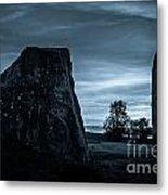 Dawn At Avebury Stone Circle Metal Print