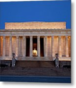 Dawn At Lincoln Memorial Metal Print