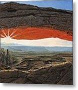 Dawn At Mesa Arch Canyonlands Utah Metal Print