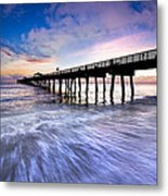 Dawn At The Juno Beach Pier Metal Print
