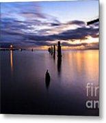 Dawn Breaks Over The Pier Metal Print